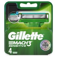 GILLETTE Mach3 Sensitive Náhradní hlavice 4 ks