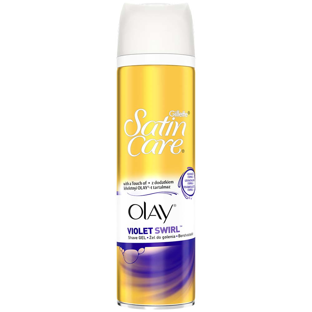 GILLETTE Satin Care Olay Violet Swirl Gel na holení 200 ml