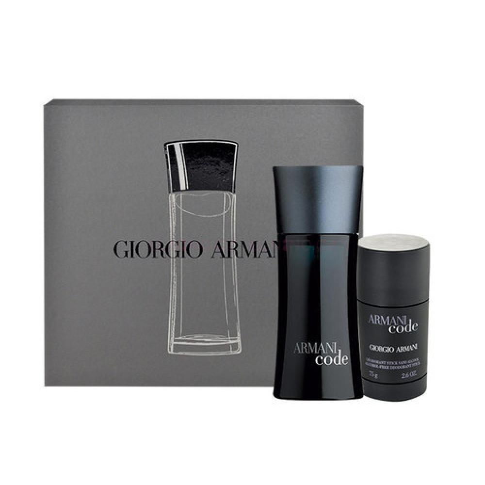Giorgio Armani Black Code Toaletní voda 75ml Edt 75ml + 75ml deostick