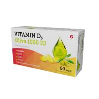 GLENMARK Vitamin D3 oliva 1000 IU 60 kapslí