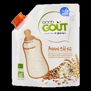 GOOD GOUT Dětská ovesná, pšeničná a rýžová instantní kaše v prášku BIO 200 g