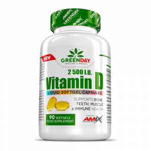 GREENDAY Vitamin D3 2500 I.U. 90 kapslí