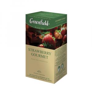 GREENFIELD Black strawberry gourmet černý čaj 25 sáčků