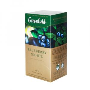 GREENFIELD Black blueberry nights černý čaj 25 sáčků