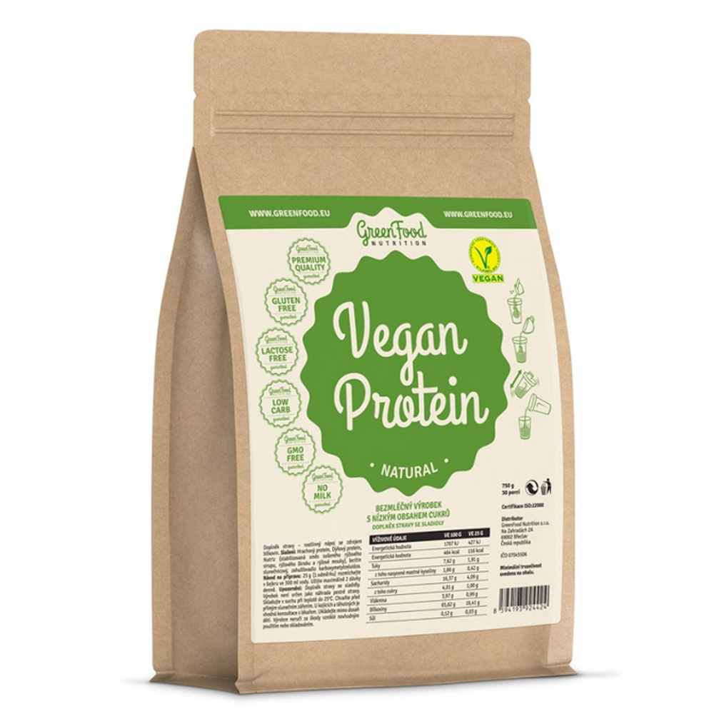 GREENFOOD NUTRITION Vegan protein natural 750 g