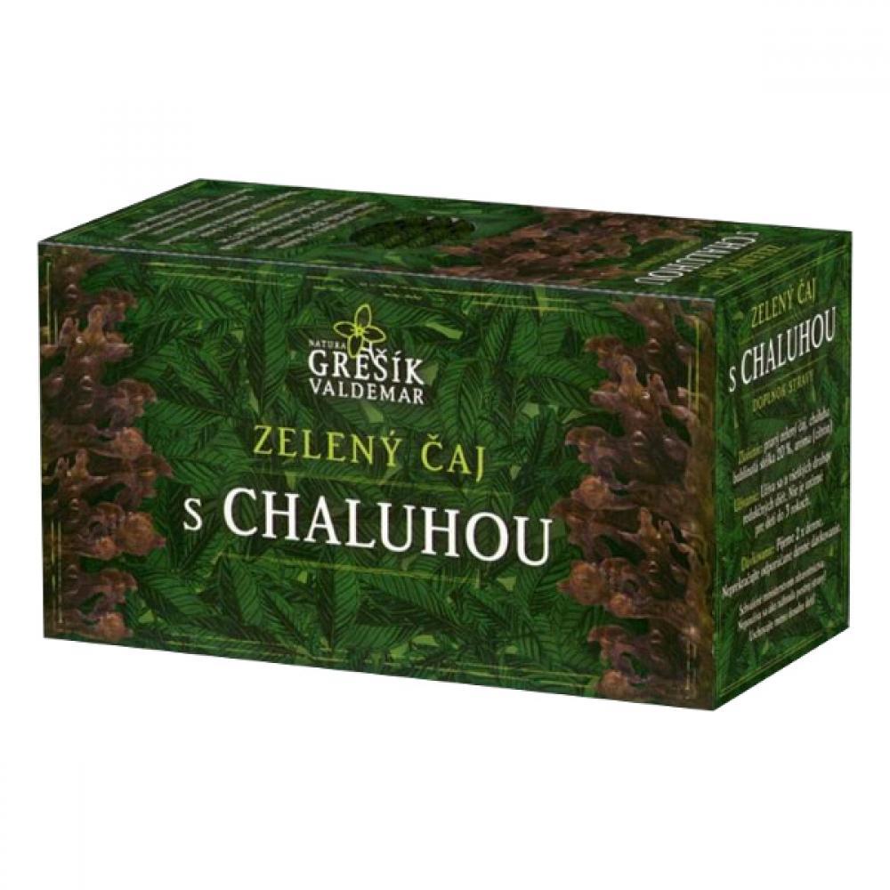 Grešík Zelený čaj s chaluhou n.s. 20x1.5 g přebal