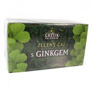 Grešík Zelený čaj s ginkgem n.s. 20x1.5 g přebal