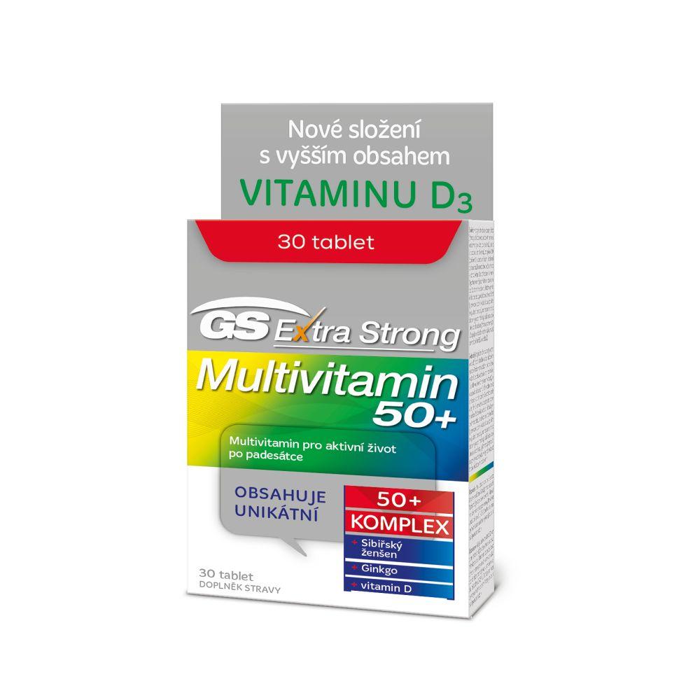 GS Extra Strong multivitamin 50+ 30 tablet