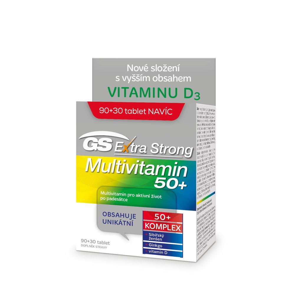 GS Extra Strong multivitamin 50+ 90 + 30 tablet ZDARMA