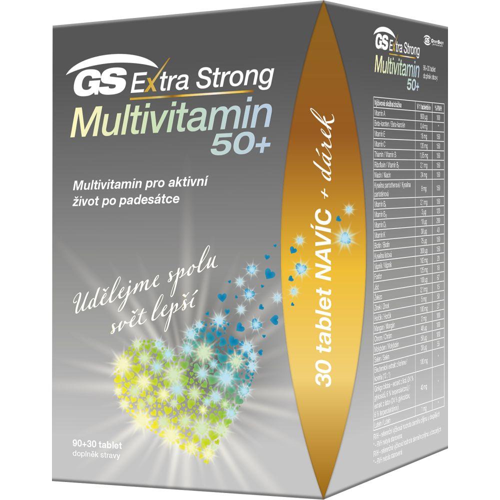 GS Extra strong multivitamin 50+ 90 + 30 tablet DÁREK 2021