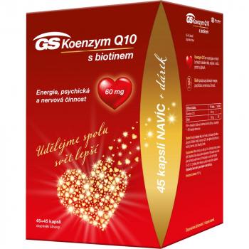 GS Koenzym Q10 60 mg 45 + 45 kapslí DÁREK 2021