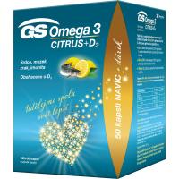 GS Omega 3 citrus + D3 100 + 50 kapslí DÁREK 2021