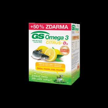 GS Omega 3 Citrus + D3 100+50 kapslí