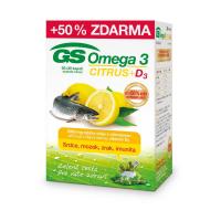 GS Omega 3 citrus + vitamin D3 60 + 30 kapslí ZDARMA