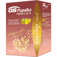 GS Pupalka forte s vitaminem E 70 + 30 kapslí DÁREK 2021