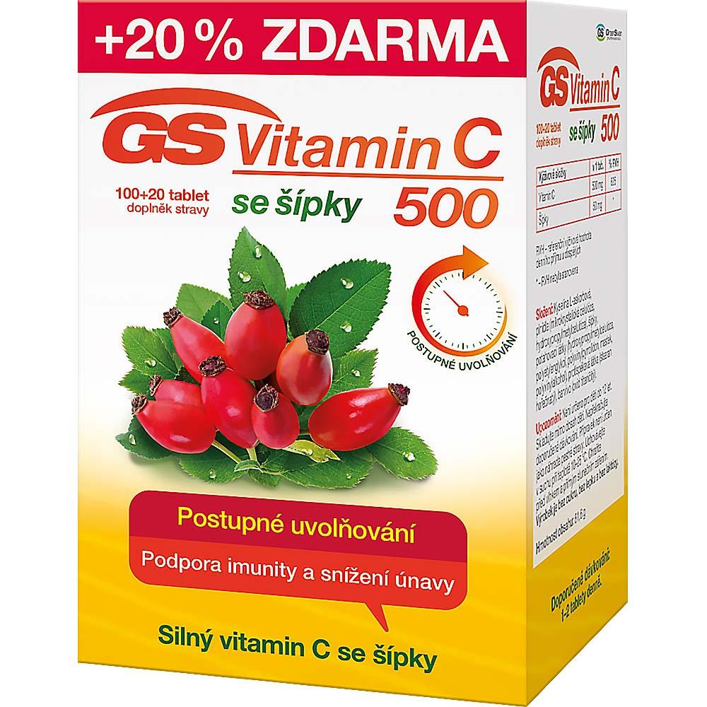 GS Vitamin C 500 se šípky tbl.100+20