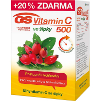 GS Vitamin C 500 se šípky 100+20 tablet