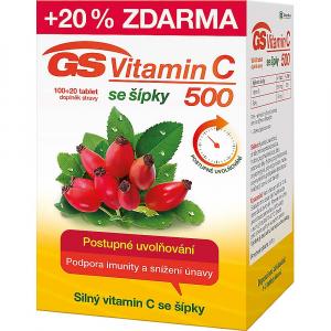 GS Vitamin C 500 se šípky 100+20 tablet