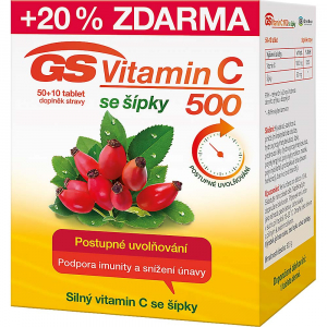 GS Vitamin C 500 se šípky 50+10 tablet