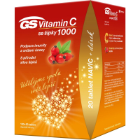 GS Vitamin C1000 + šípky 120 tablet + DÁREK 2021