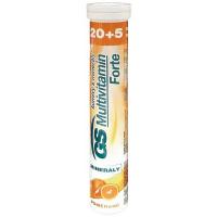 GS Multivitamin s minerály Šumivý Forte Pomeranč 20+5 tablet