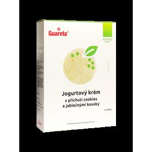 GUARETA Jogurtový krém s příchutí cookies a jablečnými kousky 3 porce