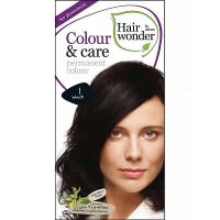 HAIRWONDER Dlouhotrvající barva BIO – černá 1 – 100 ml