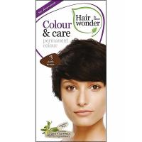 HAIRWONDER Dlouhotrvající barva BIO – tmavá hnědá 3 - 100 ml
