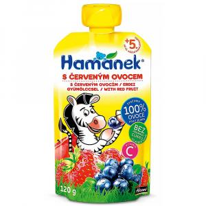 HAMÁNEK Svačinka kojenecká výživa s červeným ovocem 120 g