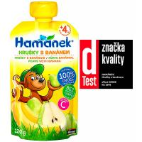 HAMÁNEK Svačinka kojenecká výživa s hruškami a banány 120 g