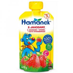HAMÁNEK Svačinka kojenecká výživa s jahodami 120 g