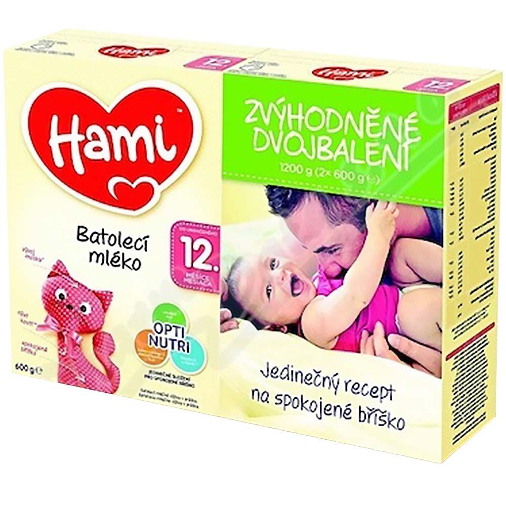 HAMI Pokračovací batolecí mléko od 12.měsíců 2x 600 g