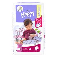 HAPPY Junior Big Pack Dětské pleny 12-25kg 58 ks