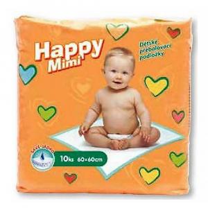 HAPPY MIMI dětské přebalovací podložky 10 ks