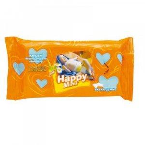 HAPPY MIMI Dětské toaletní vlhčené ubrousky s aloe 72 ks