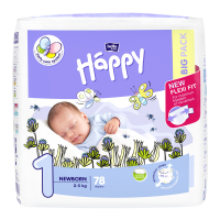 HAPPY Newborn Big Pack dětské pleny 2 - 5 kg 78 ks
