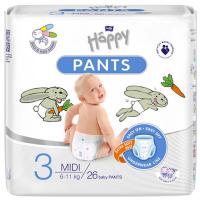 HAPPY Pants Kalhotkové plenky Midi 6-11kg 26 ks
