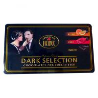 HEIDEL Kolekce hořkých čokolád plech 120g