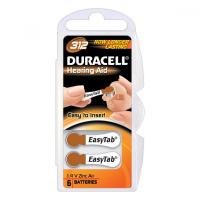 Baterie do naslouchadel Duracell DA312 Easy Tab 6 kusů