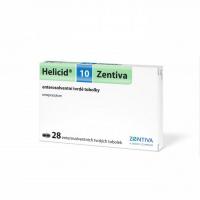 HELICID 10 Zentiva enterosolventní tvrdé tobolky 10 mg 28 kusů