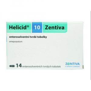HELICID 10 Zentiva enterosolventní tvrdé tobolky 10 mg 14 kusů