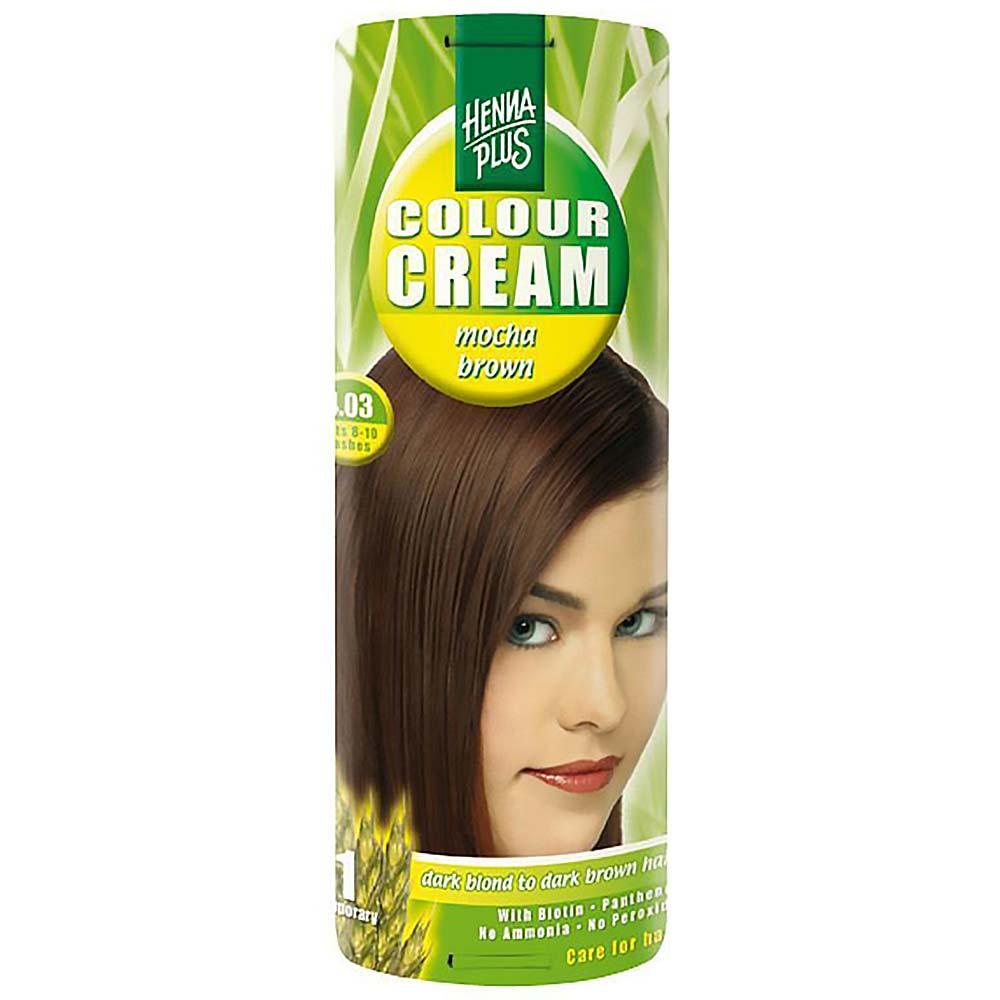 HENNA PLUS Přírodní barva na vlasy krémová MOCCA HNĚDÁ 4.03 60 ml