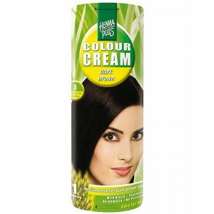 HENNA PLUS Přírodní barva na vlasy krémová TMAVĚ HNÉDÁ 3 60 ml
