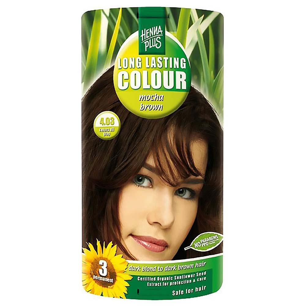 HENNA PLUS Přírodní barva na vlasy MOCCA HNĚDÁ 4.03 100 ml