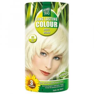HENNA PLUS Přírodní barva na vlasy ULTRA BLOND 00 zesvětlující 140 ml