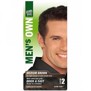 HENNA PLUS Přírodní barva pro muže HNĚDÁ 80 ml