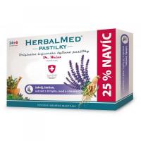 DR. WEISS HerbalMed pastilky Šalvěj + ženšen + vitamín C  24+6 pastilek