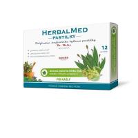 DR. WEISS HerbalMed pastilky Jitrocel + máta + lípa + vitamín C 12 pastilek
