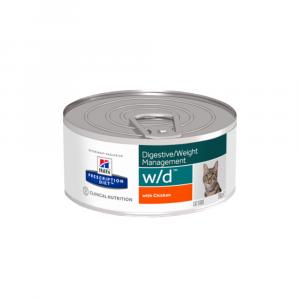 HILL'S Prescription Diet™ w/d™ Feline Chicken konzerva 156 g