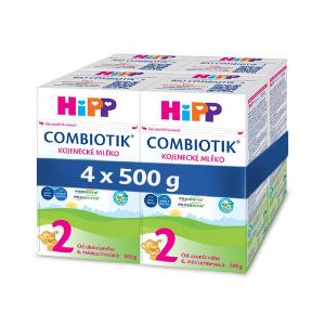 HiPP 2 BIO Combiotik Pokračovací kojenecké mléko od 6 - 12 měsíců 4x 500 g